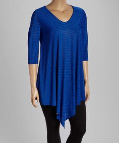 Look at this #zulilyfind! Royal Dot V-Neck Tunic - Plus #zulilyfinds