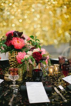 Black, White, Pink and Sparkle | Real Wedding | Aaron Young Photography | A Good…