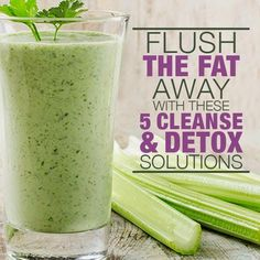 Fat and Cleanse Solutions Flush The Fat Away with these Cleanse & Detox Solutions.The lemon ginger detox drink is my favorite.Flush The Fat Away with these Cleanse & Detox Solutions.The lemon ginger detox drink is my favorite. Smoothie Detox, Smoothie Drinks, Detox Drinks, Cleanse Detox, Detox Juices, Diet Detox, Stomach Cleanse, Metabolism Booster Smoothie, Celery Smoothie