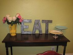zinc letters similar to those at Anthropologie