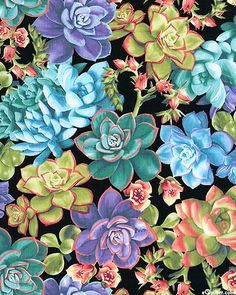 succulents quilt fabric - Google Search