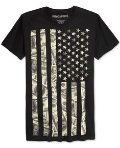 Ring of Fire Men's American Flag Graphic-Print T-Shirt, Only at Macy's - T-Shirts - Men - Macy's