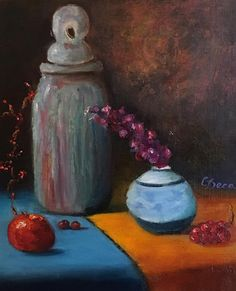 Stone Vase With Friends   Oil Painting   If interested, email me @ lamerledeca@gmail.com