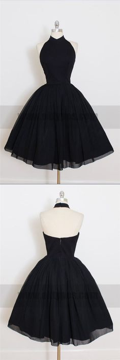 Black Homecoming Dresses, Chiffon Prom Dresses, Cheap Evening Dresses, TYP0783 #homecomingdresses #homecoming