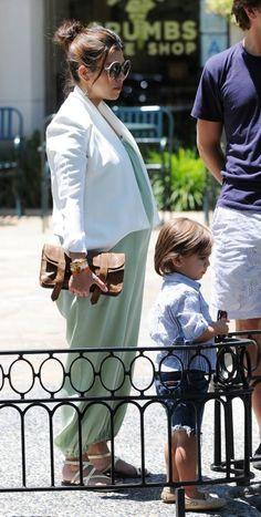 Kourtney Kardashian Pregnant in Green Dress and Scott Disick Out With Mason
