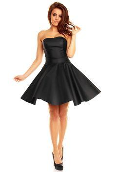 Skórzana sukienka z gorsetem KM128 , Sukienki - Kartes-Moda