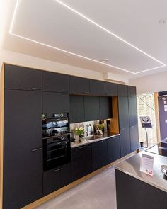 A great-looking kitchen lighting solution! Overhead Lighting, Task Lighting, Lighting Ideas, Interior S, Interior Design Tips, Interior Decorating, Led Light Design, Lighting Design, Led Light Installation