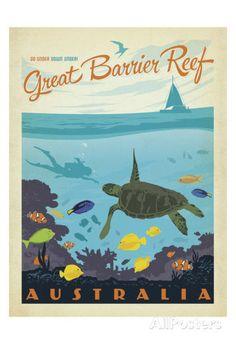 Great Barrier Reef, Australia Kunstdruk