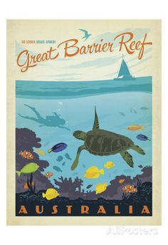 Great Barrier Reef, Australia Poster by Anderson Design Group at AllPosters.com