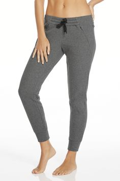 Join the jogger movement by snatching up this high-style number, designed with soft fabric and hidden pockets.