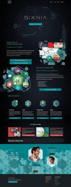 web design, hexagon, webpage, website, design www.bixnia.com #web #design #webdesign
