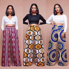 Latest Ankara Trousers For Women Hello,Today we bring to you 'Latest Ankara Trousers For Women'. These Ankara trousers are the latest, trendiest and the best in the Ankara Fashion community. These trousers would suit in any event or African Fashion Ankara, Latest African Fashion Dresses, African Inspired Fashion, African Print Fashion, Africa Fashion, Fashion Prints, African Style Clothing, African Print Pants, African Print Dresses