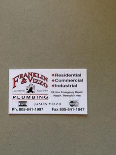 Franklin & Vizzo Plumbing #plumbing #ventura
