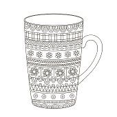 doodle cup vector