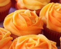 Cupcakes Take The Cake: Blooming Orange Cupcakes Frosting Tips, Cupcake Frosting, Cupcake Cakes, Cup Cakes, Rose Frosting, Rose Cupcake, Cream Frosting, Cupcake Toppers, Icing