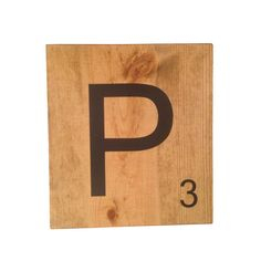 Oversized Scrabble Tiles - P Initial Wall, Scrabble Tiles, Initials, Unique Jewelry, Handmade Gifts, Vintage, Etsy, Kid Craft Gifts, Craft Gifts