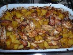 Obed z pekáča Nie vždy treba stáť pri… Slovak Recipes, Czech Recipes, No Salt Recipes, Chicken Recipes, Cooking Recipes, Slovakian Food, Good Food, Yummy Food, How To Cook Potatoes