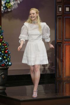Elle Fanning appearing for a taping of The Tonight Show With Jay Leno. See all of the actress's best looks.