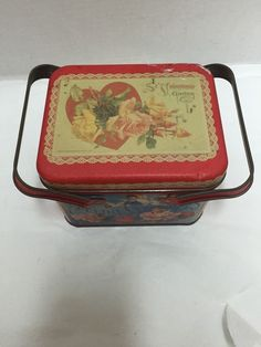Vintage St.Valentine's Greeting Tin Loving Roses Cupid Design by John Winsch
