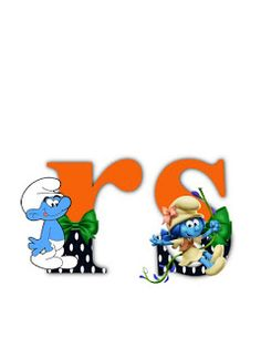 S.T.R.U.M.F.: Litere cu strumfi 2 Math For Kids, Alphabet Letters, Smurfs, Fonts, Cartoons, Board, Blog, Manualidades, Letters Of Alphabet