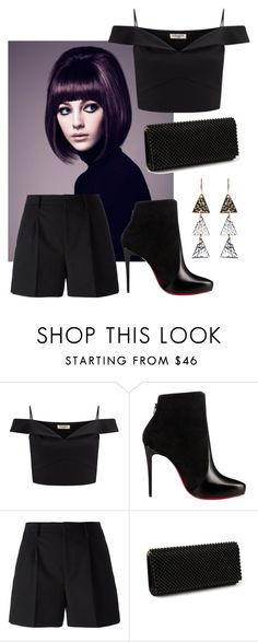 """Cropped & Classy"" by amritasinghjewelry on Polyvore featuring Lipsy, Christian Louboutin, Yves Saint Laurent and Amrita Singh"