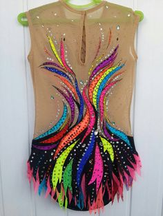 Beautiful designer rhythmic gymnastics leotard ice skating competition