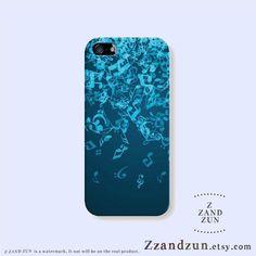 iphone 5 5s Case  Music Note Fall Iphone Case Iphone by Zzandzun, $16.50