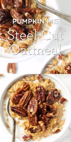 How to make PUMPKIN Steel Cut Oats with a super creamy texture! This is the best easy, homemade, healthy fall breakfast. Tastes like pumpkin pie and is such a great way to start your day! This recipe is made on the stovetop and is vegan and gluten-free. Good Healthy Recipes, Healthy Breakfast Recipes, Healthy Snacks, Vegan Recipes, Low Carb Brasil, Steel Cut Oats, Fall Breakfast, Breakfast Bowls, Healthy Pumpkin