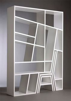 Got to love a bookshelf with a built in chair and footstool! [bookshelf chair]