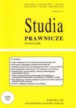 Wydawnictwo Naukowe Scholar :: :: 2006 STUDIA PRAWNICZE nr 3 UWAGA!!! Do kupienia WYŁĄCZNIE w PDFie