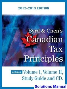 Test bank for business law and the legal environment 7th edition by solutions manual for byrd and chens canadian tax principles 2012 2013 edition canadian 1st edition by fandeluxe Choice Image