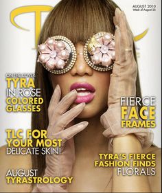 SATURDAY, OCTOBER 23, 2010  Tyra Banks online cover Mercura NYC for Merura Sunglasses  The styling is by Beagy for protection from dolphins