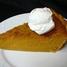 THE BEST............................                               Mrs. Sigg's Fresh Pumpkin Pie Allrecipes.com