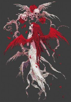 "Macabre Fairy Counted Cross Stitch Kit 10"" x 14.5"""
