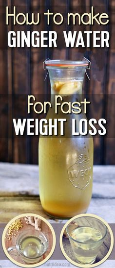 Ginger Water For Weight Loss- The Healthiest Drink That Burns Fat Like Crazy - Nutri IDEA