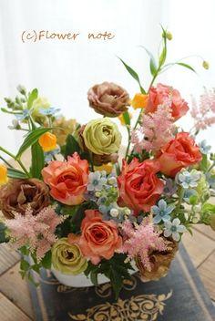 【今日の贈花】講演会を彩るお花|Flower note の 花日記 (横浜・上大岡 アレンジメント教室)