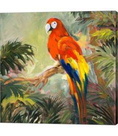 Jane Slivka Solid-Faced Canvas Print Wall Art Print entitled Parrots at Bay I My Canvas, Canvas Artwork, Framed Artwork, Wall Art Prints, Poster Prints, Framed Prints, Canvas Prints, Baby Clothes Shops, Online Art