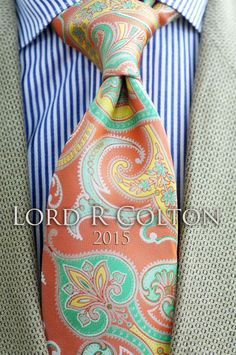 Lord R Colton Masterworks Tie - Upsala Ice Coral Woven Silk Necktie - $195 New #LordRColton #NeckTie