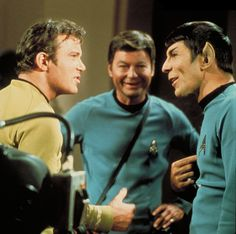 From the look on his face, I think Dr. McCoy is enjoying this argument!