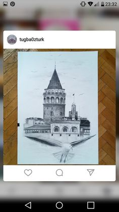 Discover recipes, home ideas, style inspiration and other ideas to try. Pencil Drawings Of Nature, Border Design, Istanbul Turkey, Art Prints, Painting, Art Impressions, Painting Art, Paintings, Drawings