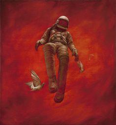 Cosmonauts by the New Zealand artist Jeremy Geddes