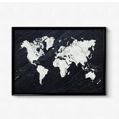 Black marble world map print, World map wall art, Marble print, Black and white, Map art poster, Maps as art, Map print by HamptyDamptyArt on Etsy