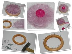 diy how to make a little flower loom
