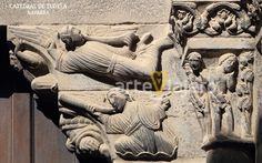 Catedral de Tudela, Navarra. Detalle de la Puerta del Juicio #románico