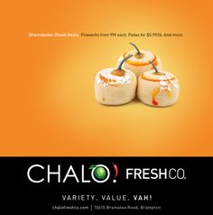 Chalo celebrates Diwali with a bang. A Barrett and Welsh multicultural campaign for Diwali. For Chalo FreshCo, Sobeys' brand new South Asian discount store. Welsh, Diwali, Celebrities, Food, Welsh Language, Essen, Celebs, Foreign Celebrities, Yemek