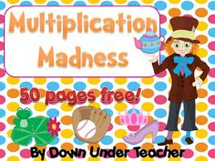 Down Under Teacher: 50 page freebie - Multiplication Madness
