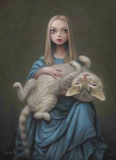 Mark Ryden - Pop Surrealism - Alice in Wonderland Mark Ryden, Art Sinistre, Arte Lowbrow, Arte Horror, Creepy Art, Lewis Carroll, Surreal Art, Art World, Cat Art