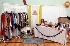 little-o collection's stall at the first 'bay marketta' in geelong http://www.facebook.com/littleocollection  market stall. vintage market. market inspiration. market display ideas.