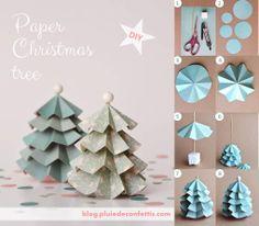 Paper Christmas tree DIY, blog.pluiedeconfettis.com