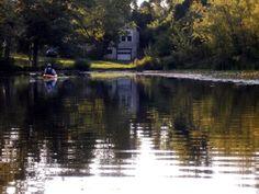 Paddling from Lake Nockamixon into the Haycock Run in Bucks County, PA.